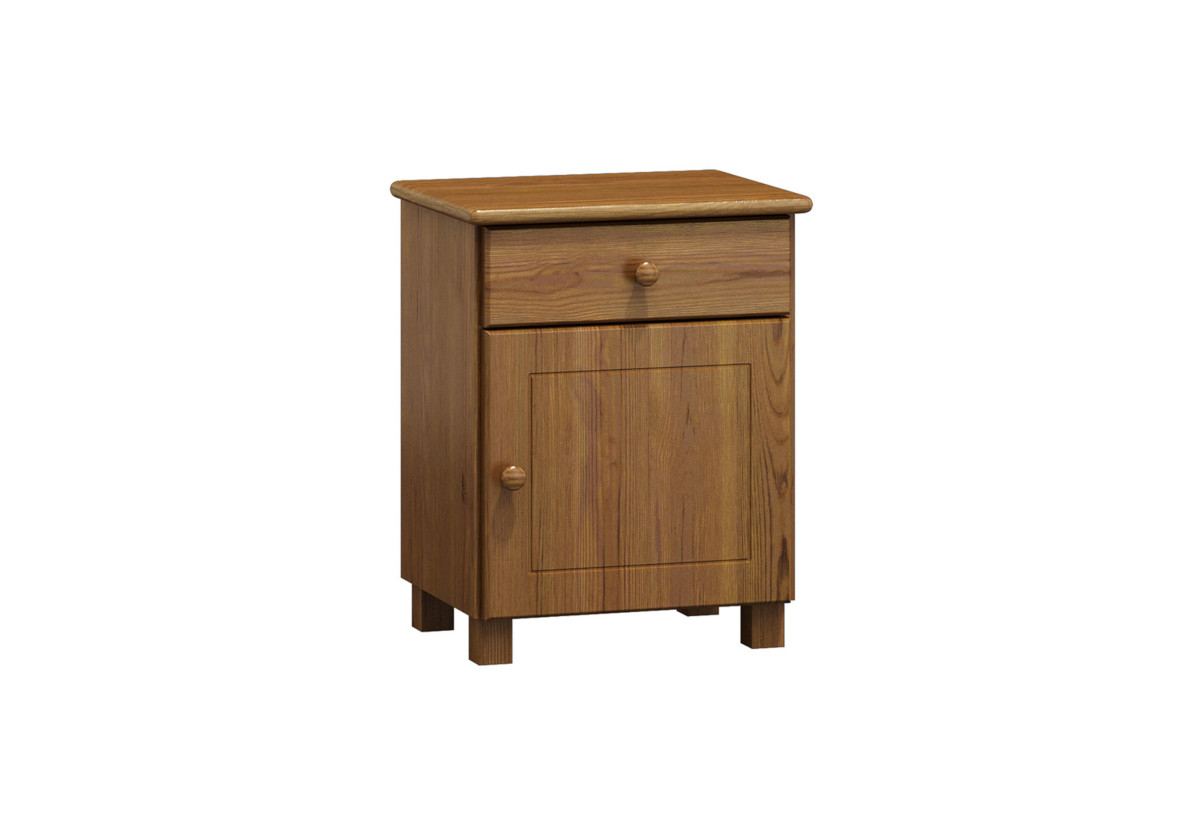Noční stolek z masivu ALA, 54x43x34 cm, dub-lak