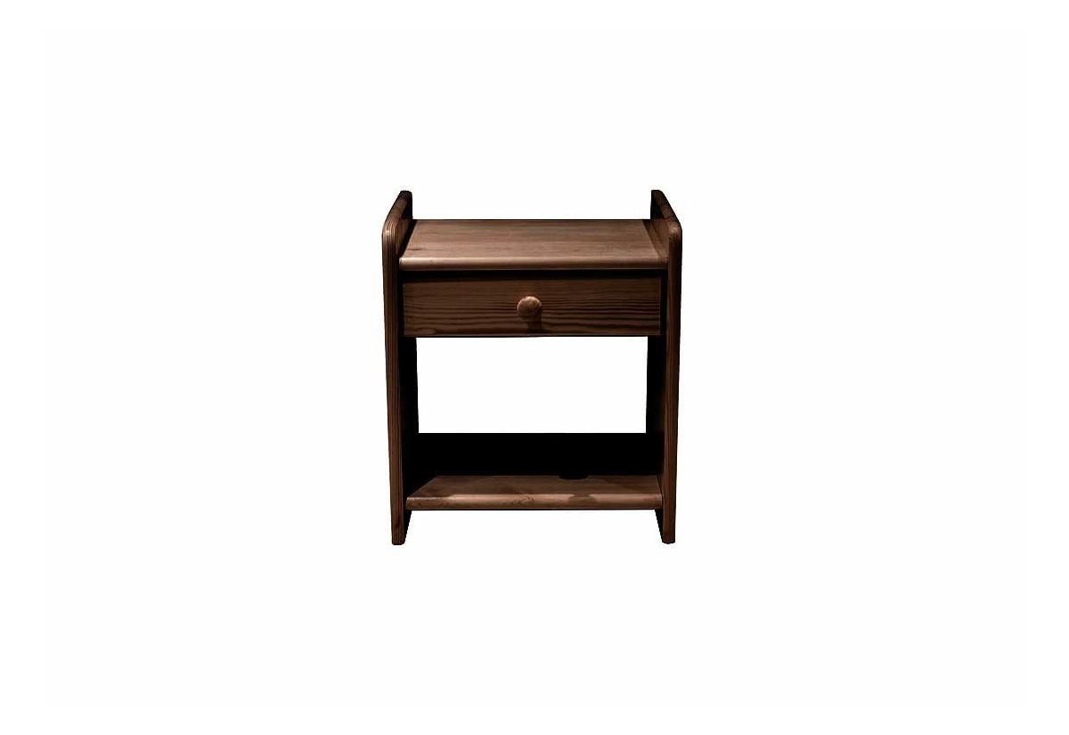 Noční stolek z masivu ILONA, 42x42x28cm, ořech-lak