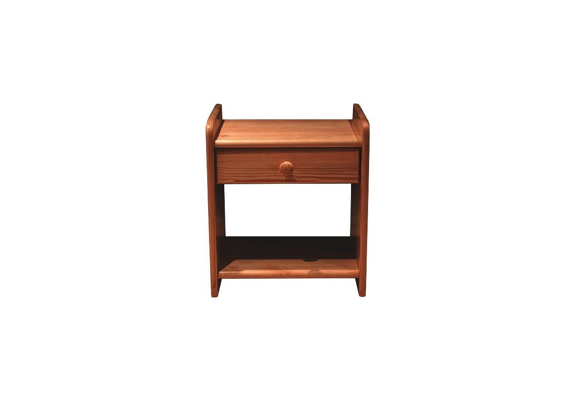 Noční stolek z masivu ILONA, 42x42x28cm, olše-lak