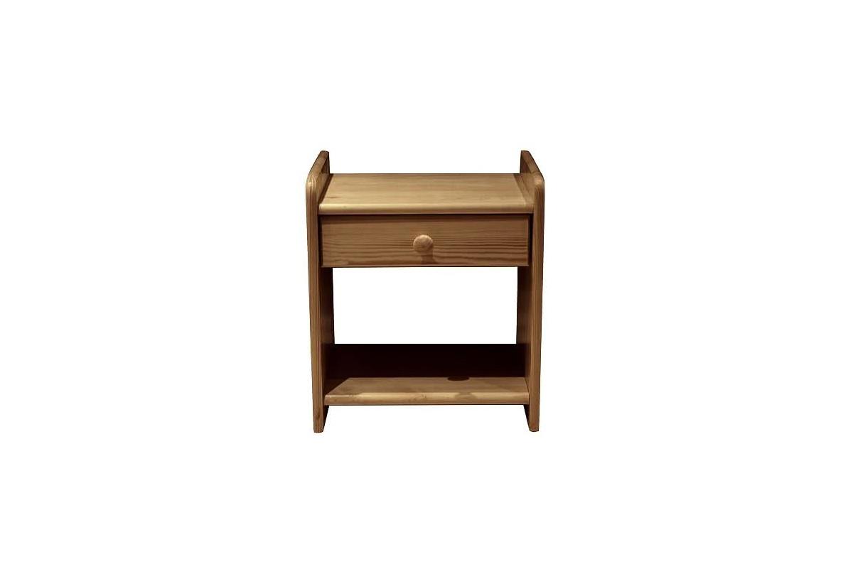 Noční stolek z masivu ILONA, 42x42x28 cm, dub-lak