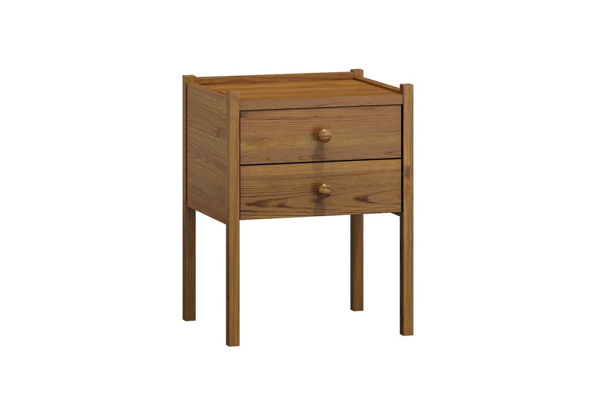 Noční stolek z masivu KAJA, 52x41x34 cm, dub-lak