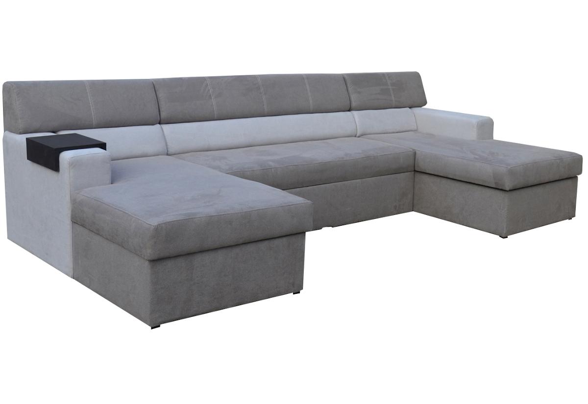 Rozkládací sedačka do U MARKOS, pravá, 310x85x160, toro94/toro90