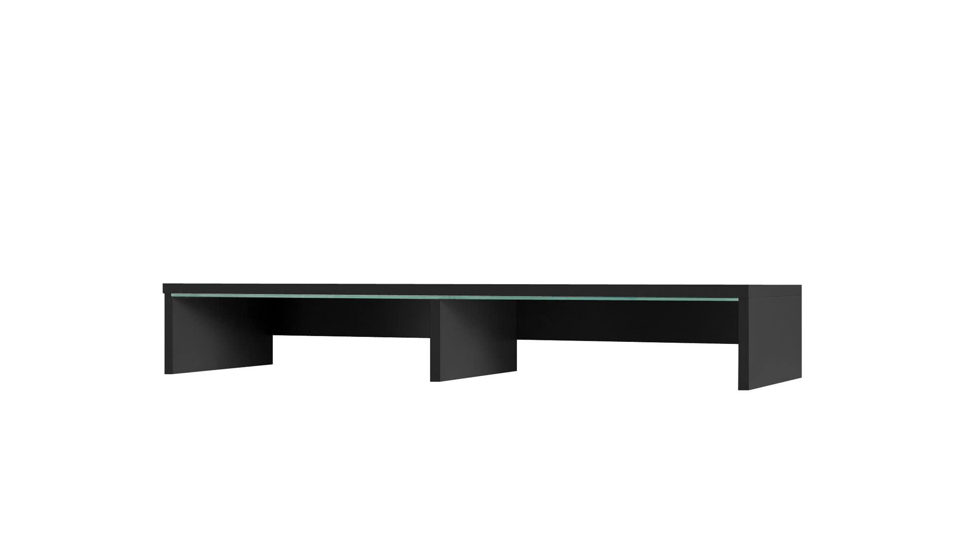 Nástavec k TV stolku GORDIA, 15x100x32, Černá barva, bílé LED