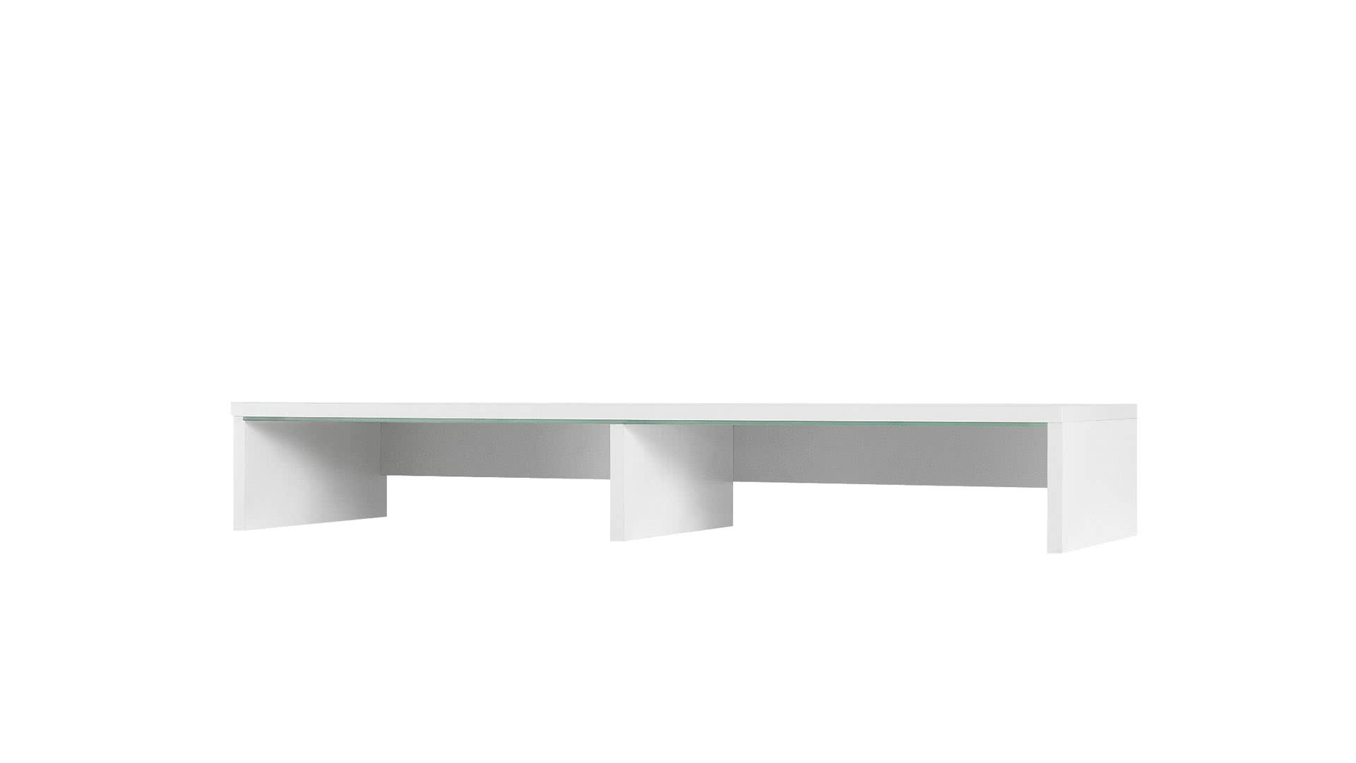 Nástavec k TV stolku GORDIA, 15x100x32, Bílá barva, bílé LED