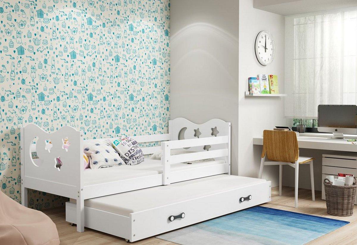 Dětská postel MIKO 2 + matrace + rošt ZDARMA, 80x190, bílý, bílá