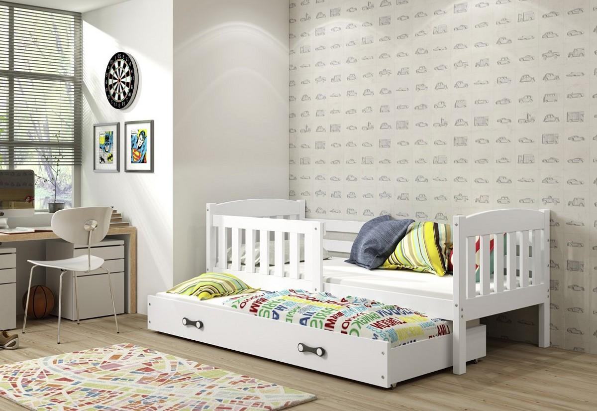 Dětská postel KUBUS 2 + matrace + rošt ZDARMA, 80x190, bílý, bílá