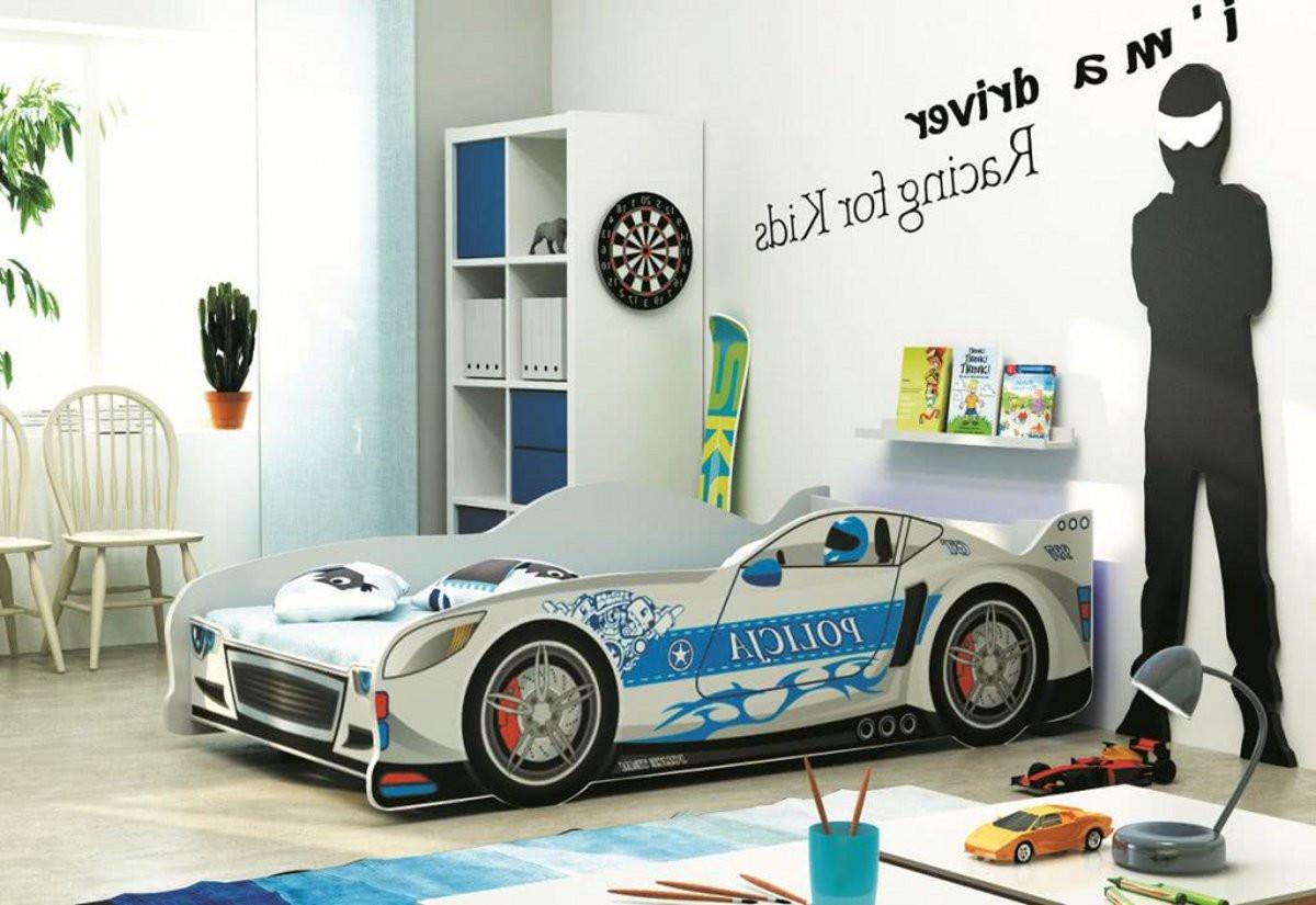 Dětská postel AUTO CARS + matrace + rošt ZDARMA, 80x160, bílý, stříbrná