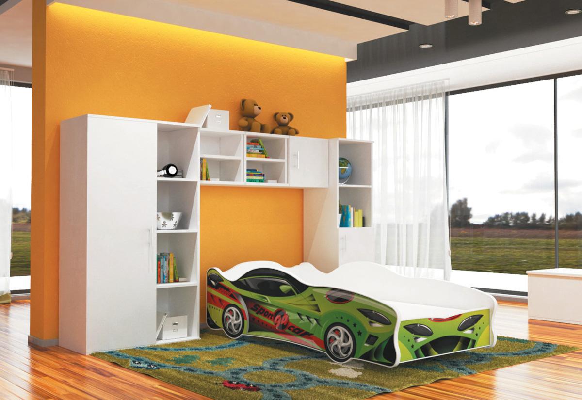 Dětská postel AUTO Cars thunder 80x160, VZOR 15 Sport Car