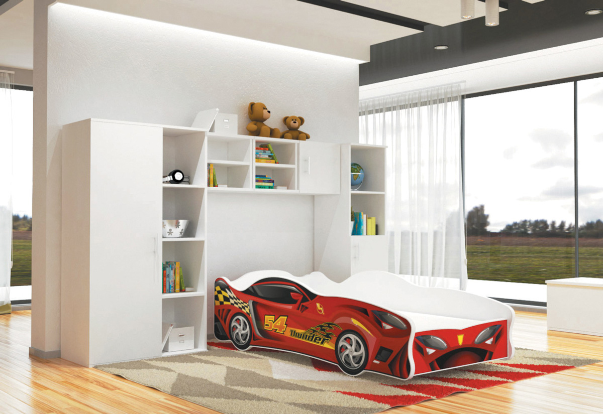 Dětská postel AUTO Cars thunder 80x160, VZOR 10 Thunder