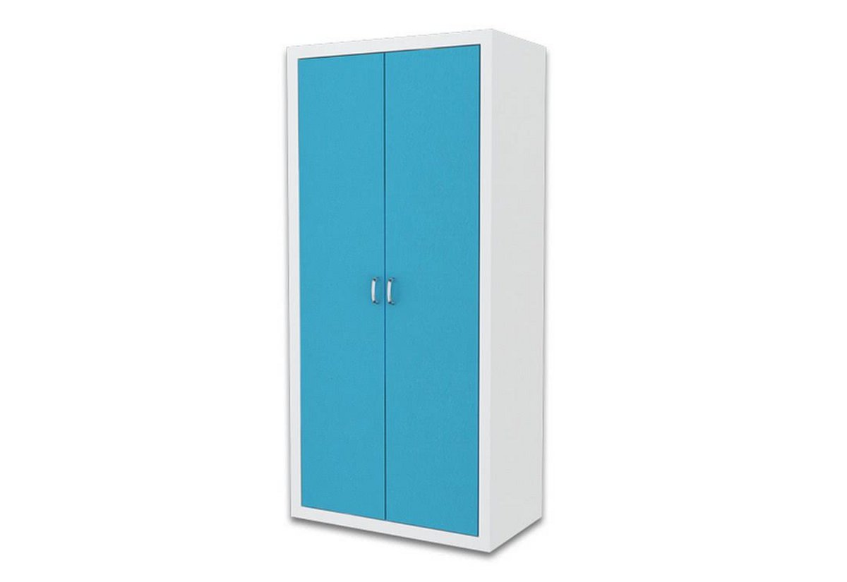 Dětská šatní skříň FILIP, color, bílý/modrý