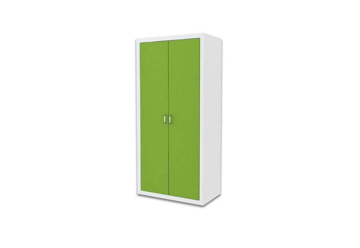 Dětská šatní skříň FILIP, color, bílý/zelený