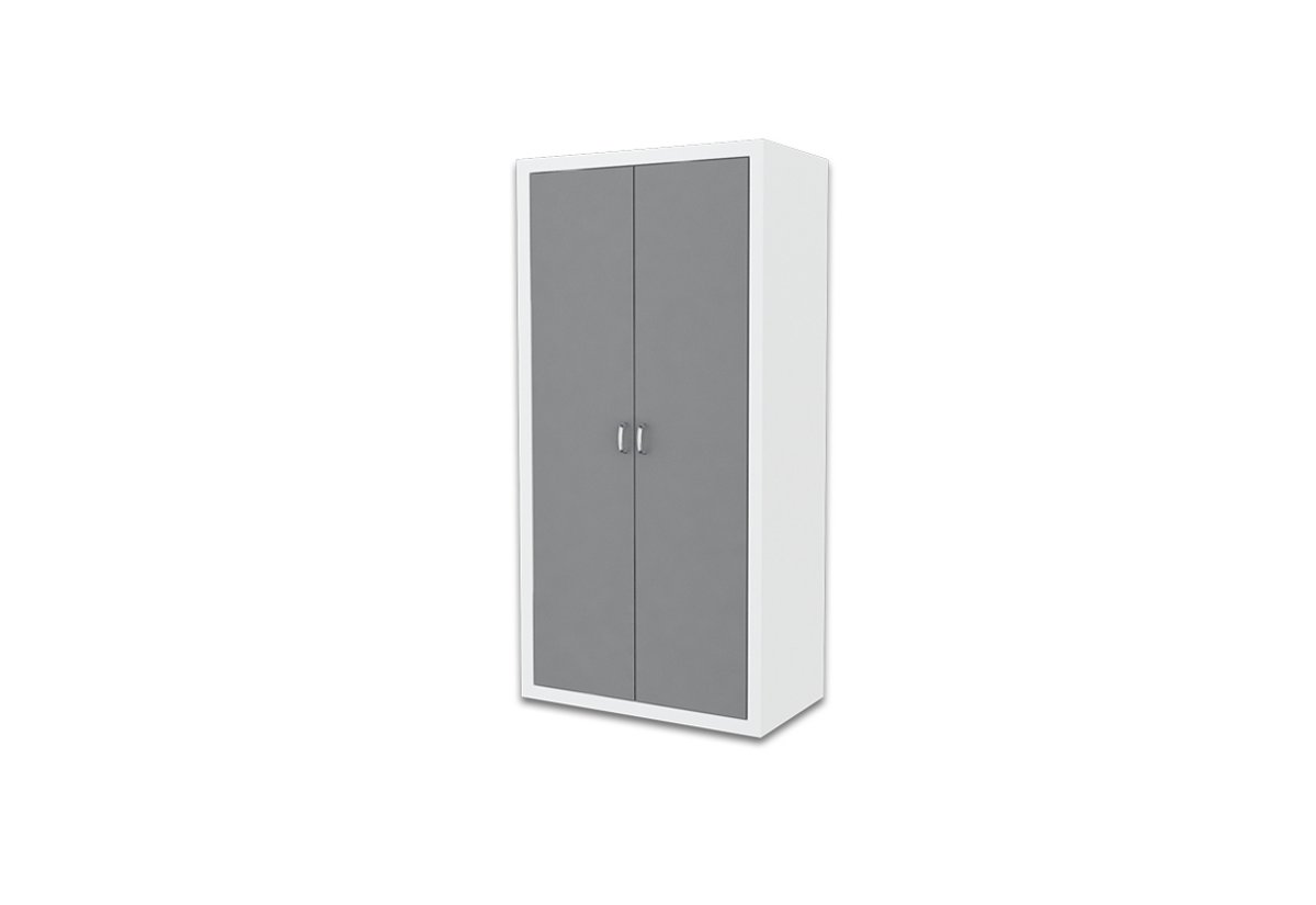 Dětská šatní skříň FILIP, color, bílý/šedý