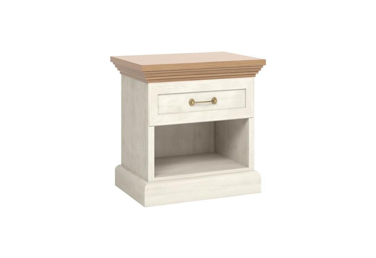 Noční stolek ROYAL SN, bílá sosna skandinávská/dub divoký