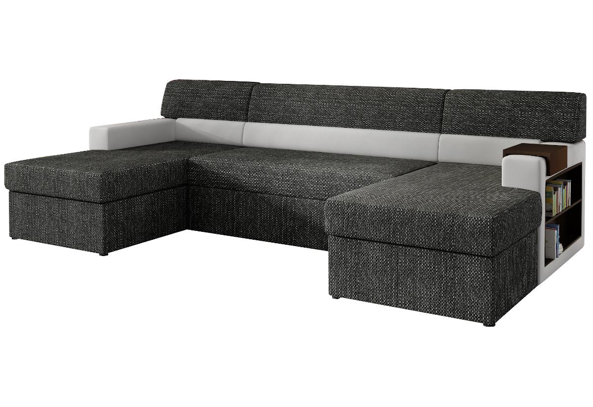 Rozkládací sedačka do U MARKOS, pravá, 310x85x160, berlin02/soft017