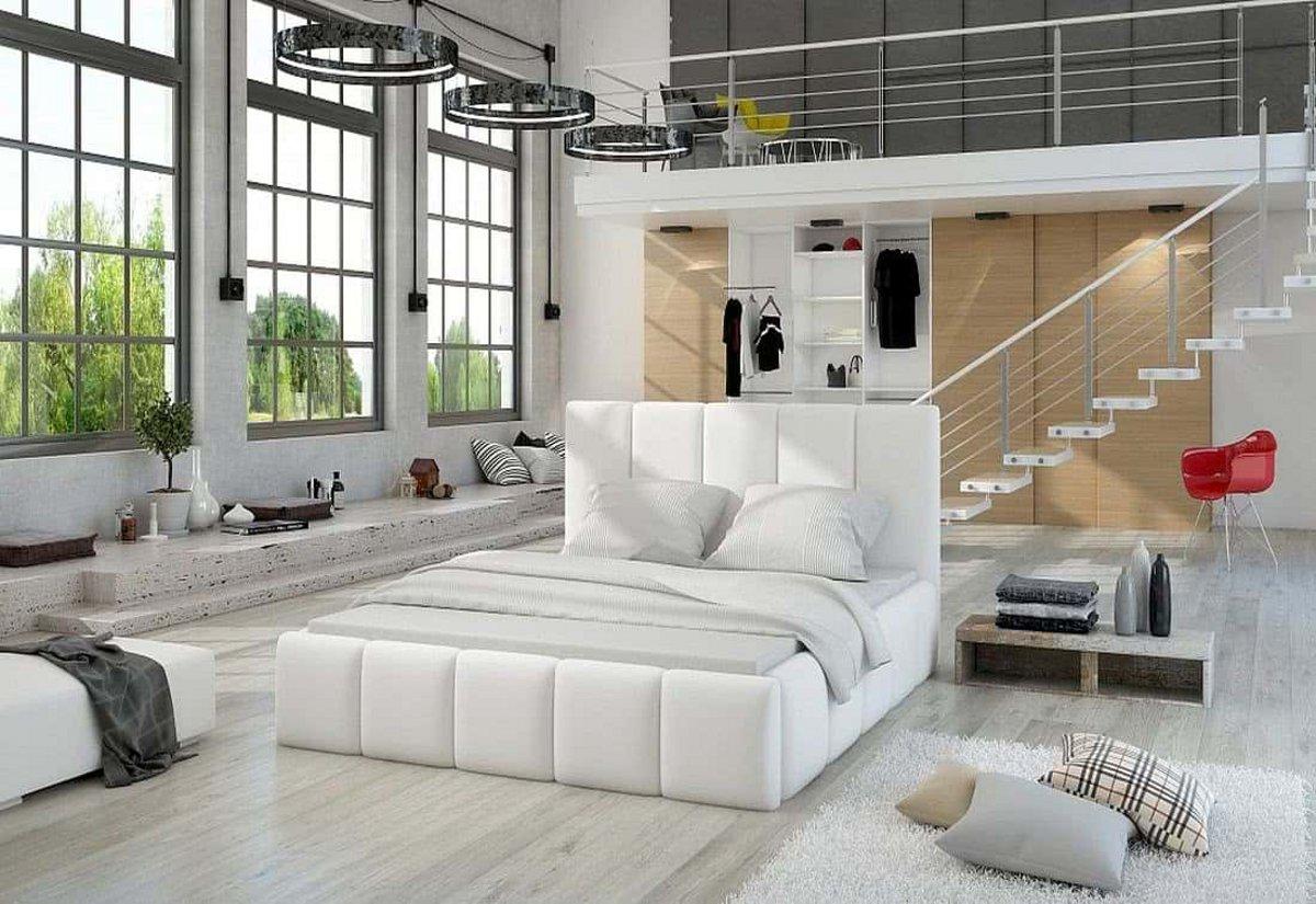 Čalouněná postel EDVIGE + Matrace s roštem HELVETIA 140x200, 140x200, soft17