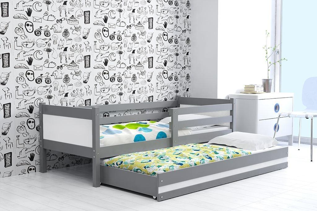 Dětská postel RINO 2 + matrace + rošt ZDARMA, 190x80, grafit, bílý