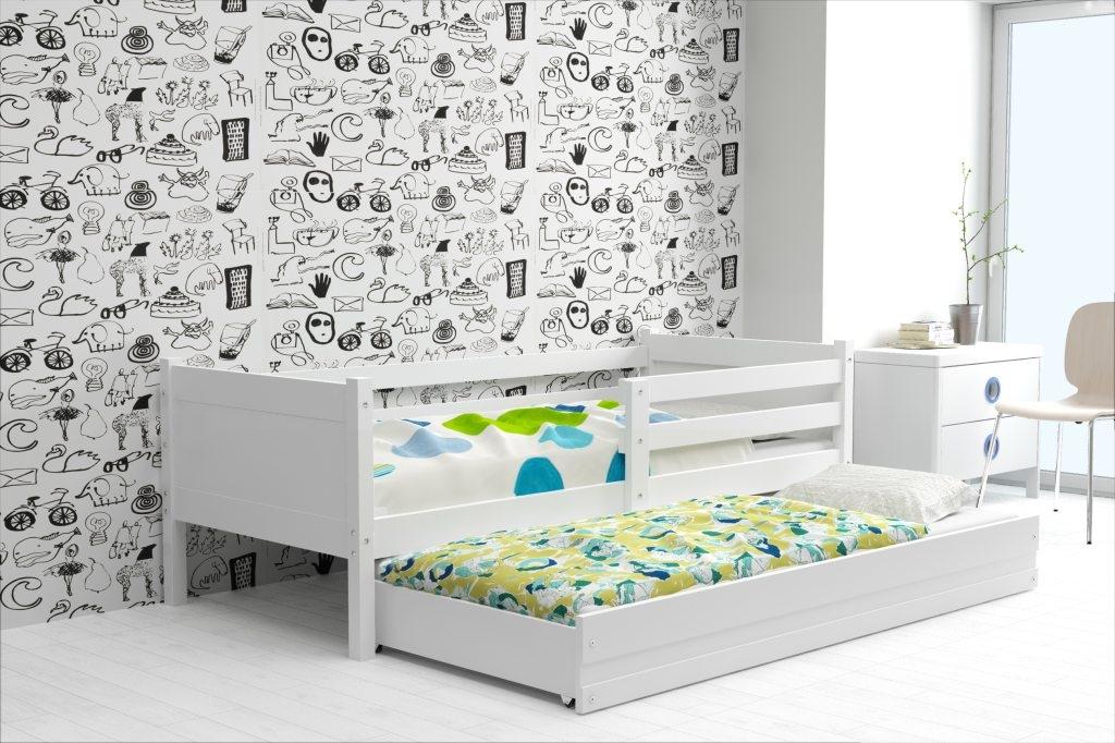 Dětská postel RINO 2 + matrace + rošt ZDARMA, 190x80, bílý, bílý