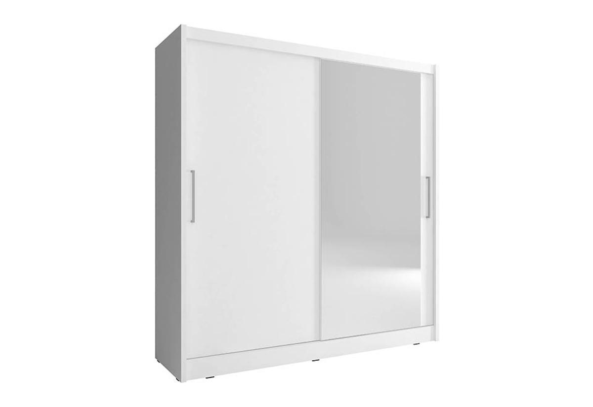 Šatní skříň MAJA 1, 180/200/62, bílá barva