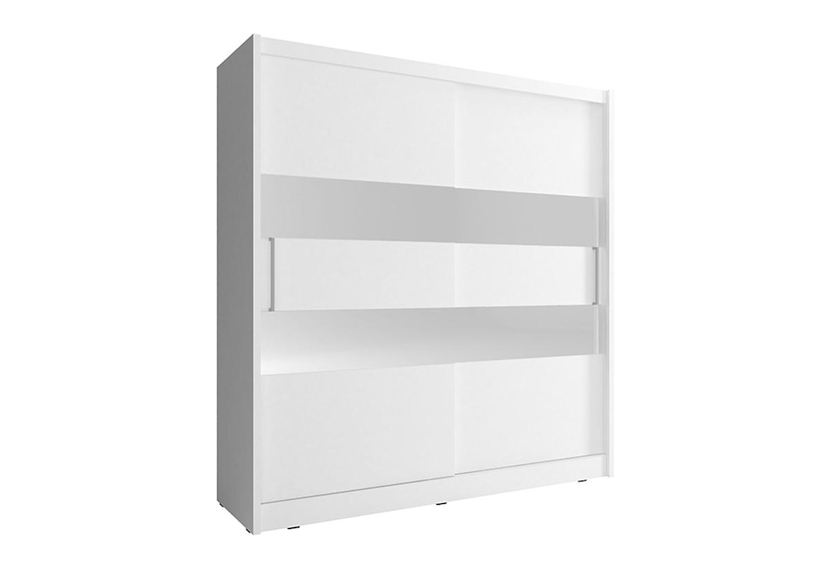 Šatní skříň MAJA 2, 180/200/62, bílá barva