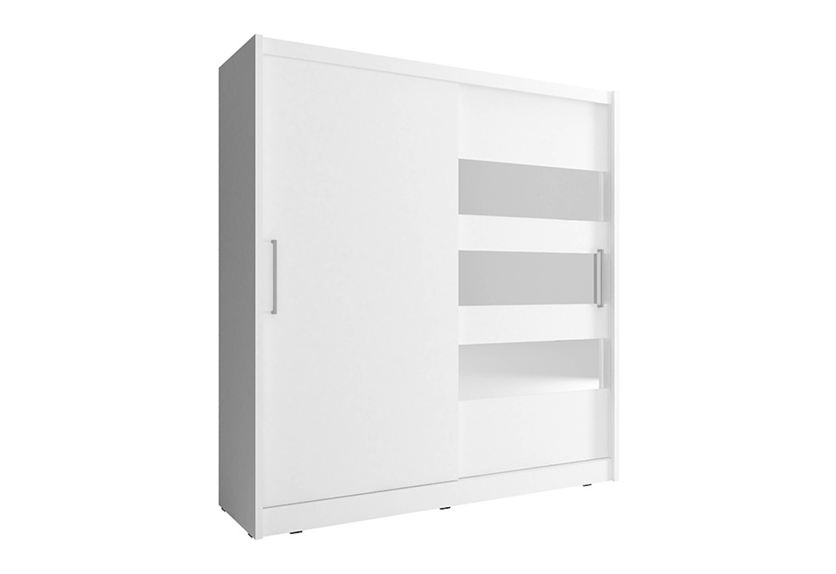 Šatní skříň MAJA 3, 200/214/62, bílá barva