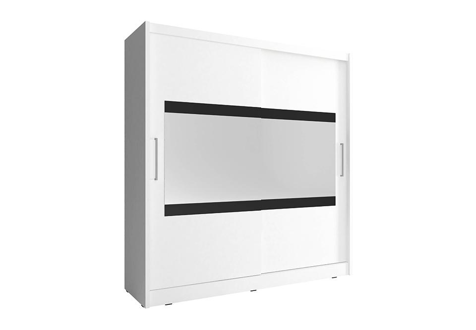 Šatní skříň MAJA 4, 180/200/62, bílá barva