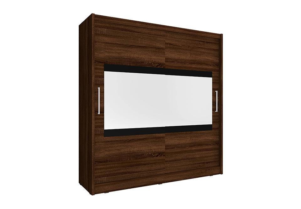 Šatní skříň MAJA 4, 180/200/62, sonoma čokoládová