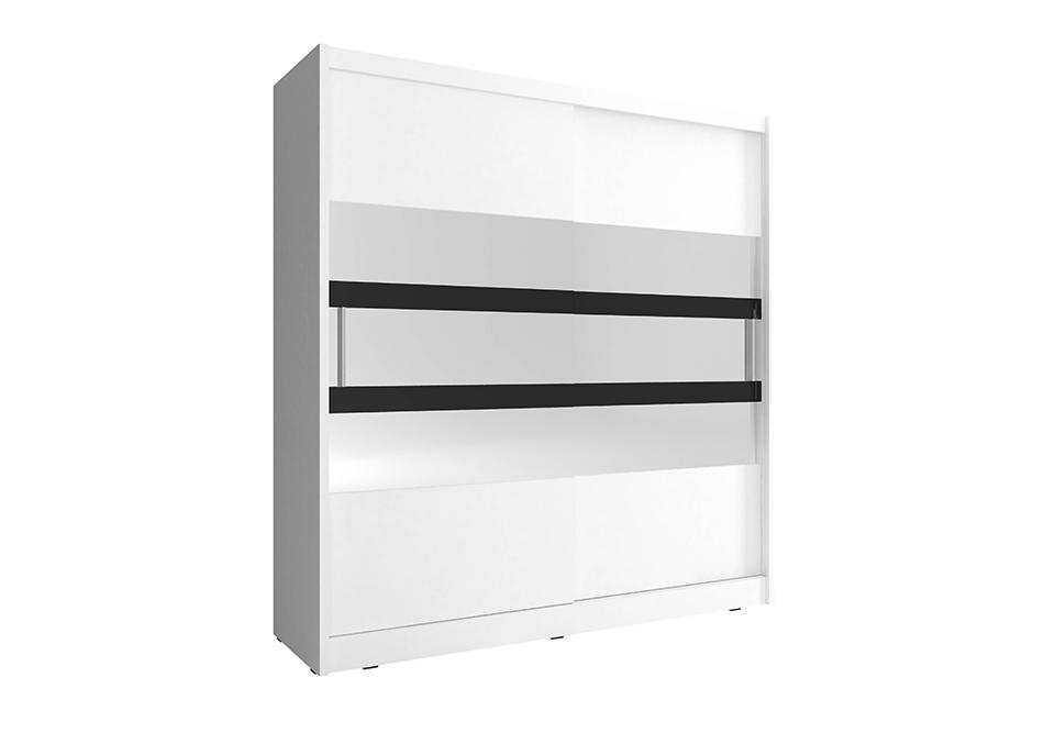 Šatní skříň MAJA 5, 180/200/62, bílá barva