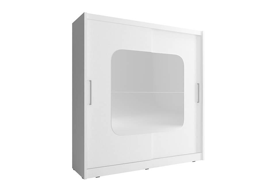 Šatní skříň MAJA 8, 180/200/62, bílá barva
