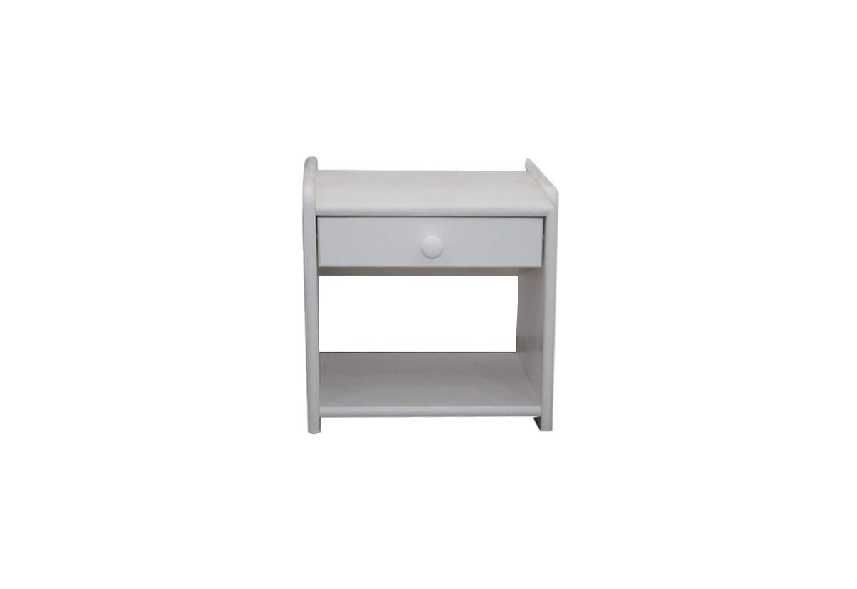 Noční stolek z masivu ILONA, 42x42x28 cm, bílá