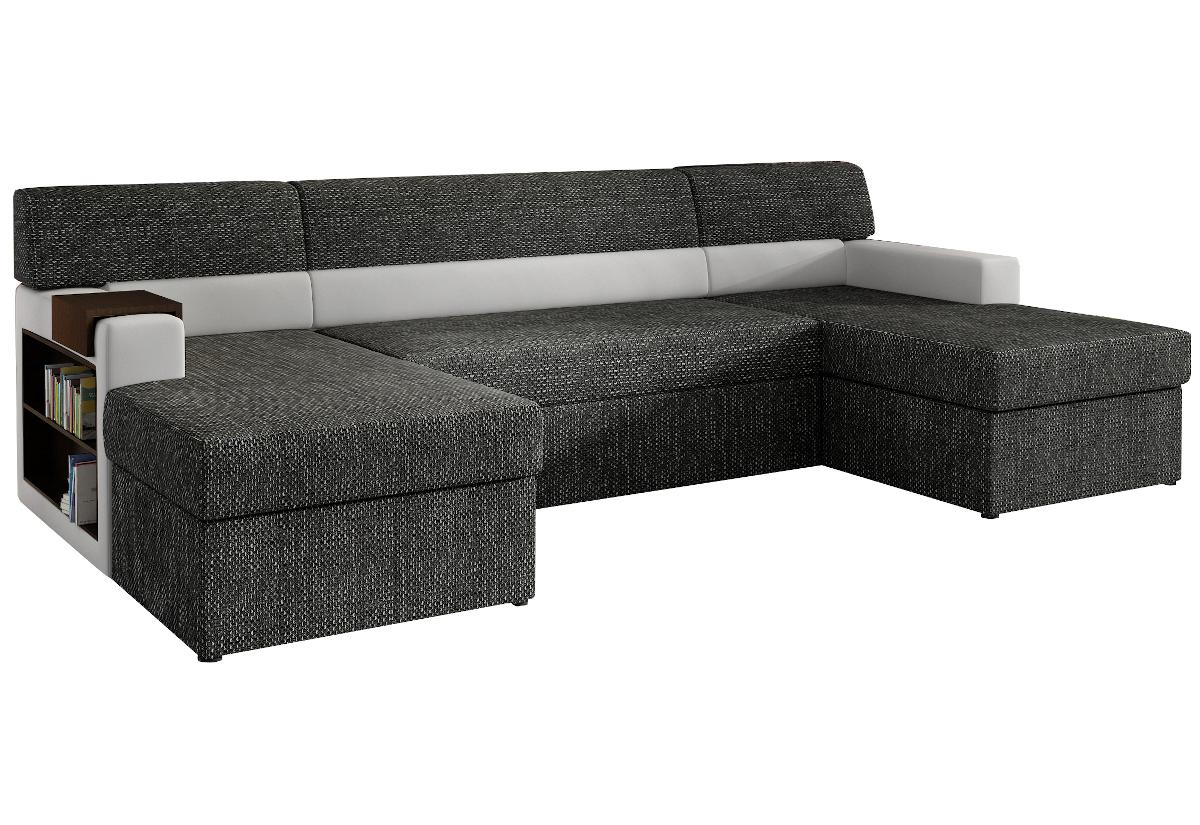 Rozkládací sedačka do U MARKOS, levá, 310x85x160, berlin02/soft017