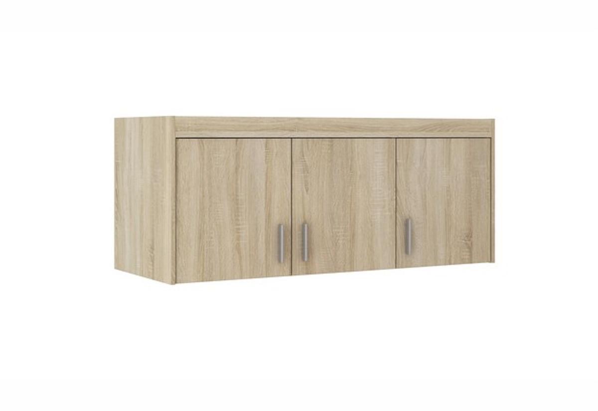 Nástavec na šatní skříň ELENA 3D, 133x55x53, dub sonoma
