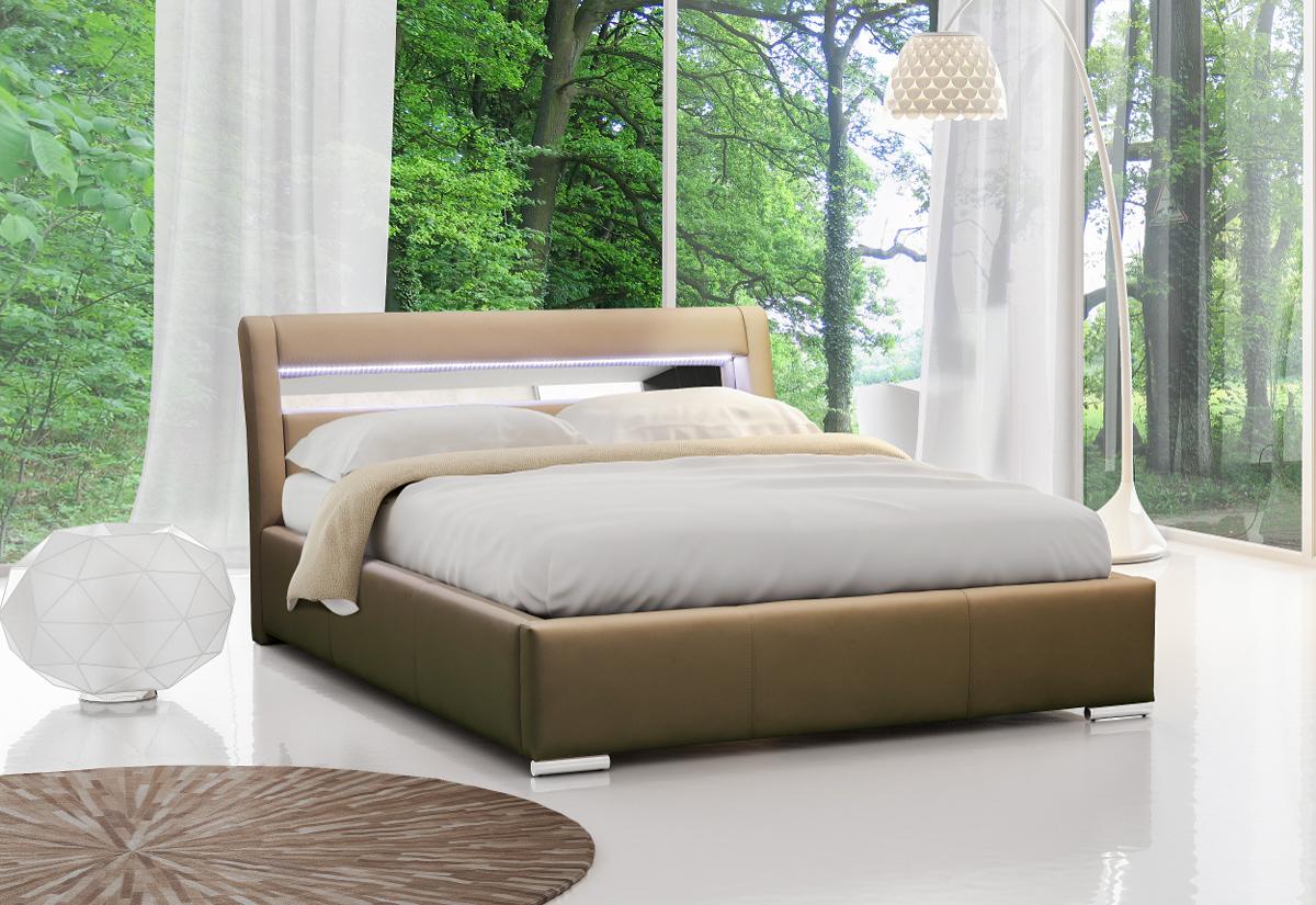 Čalouněná postel LEXUS s led osvětlením + matrace COMFORT, 120x200, madryt 120