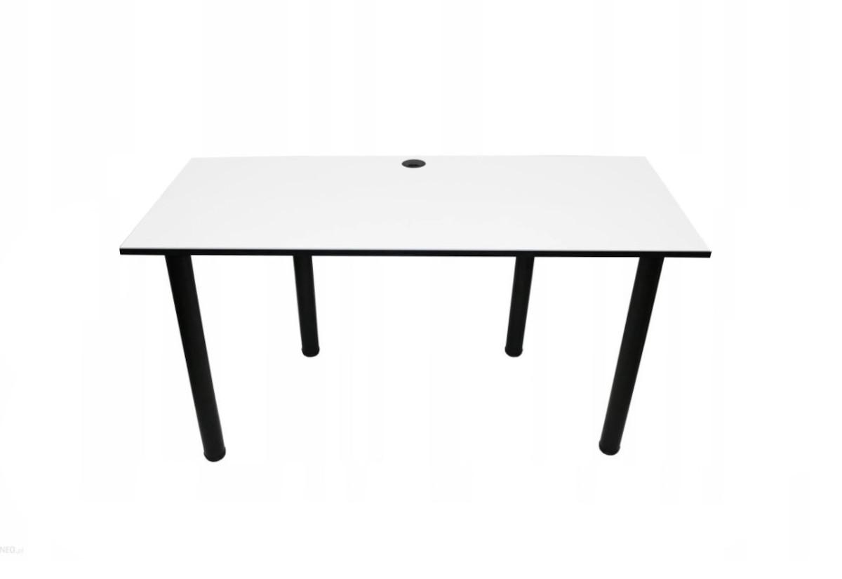 Počítačový herní stůl BIG, 160x73-76x80, bílá/černé nohy + USB HUB