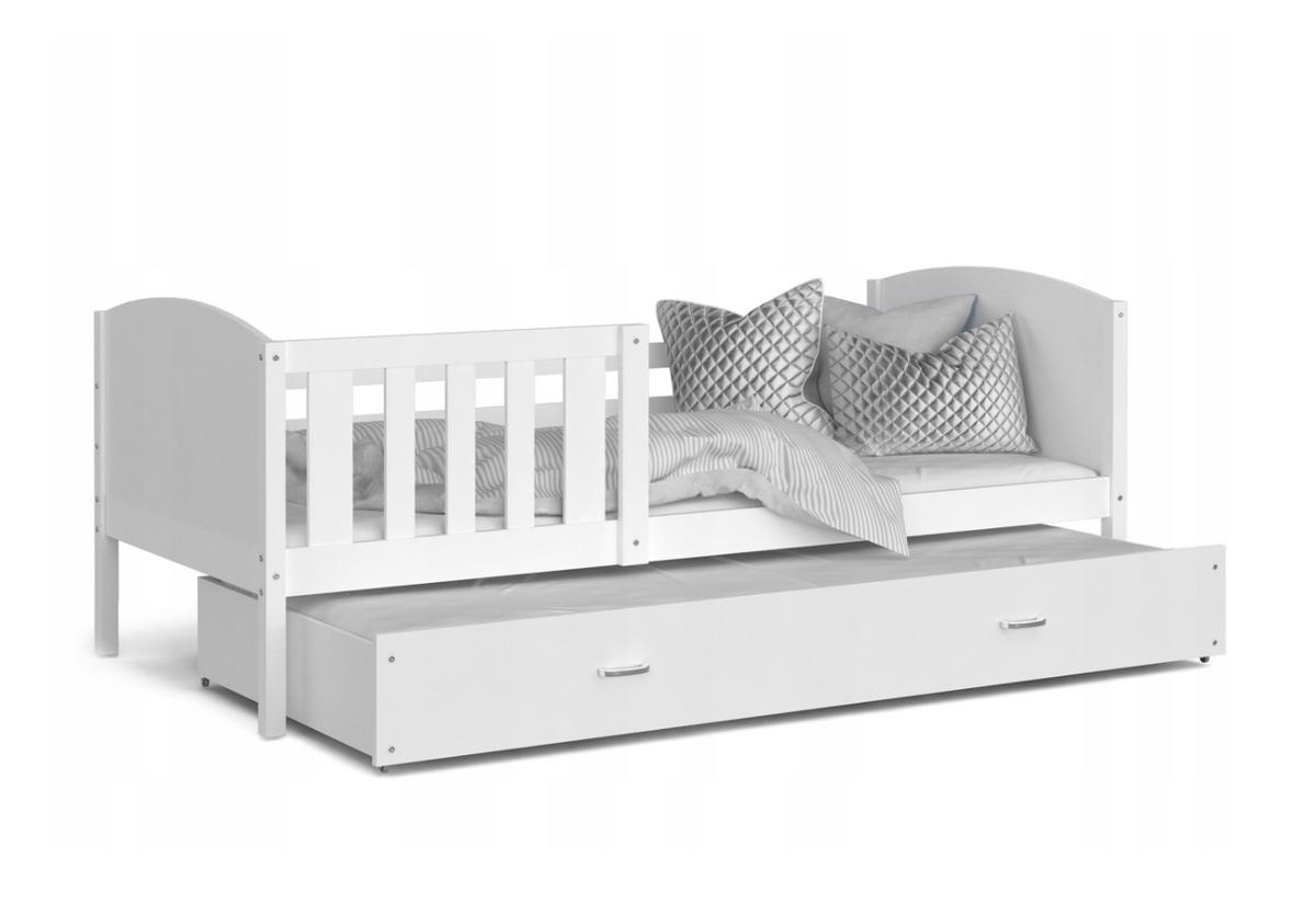 Dětská postel TAMI P2 color, 184x80, bílá/bílá