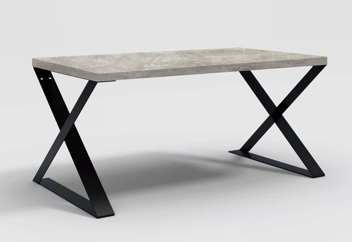 Stůl CORINO X, 160x78x90, beton