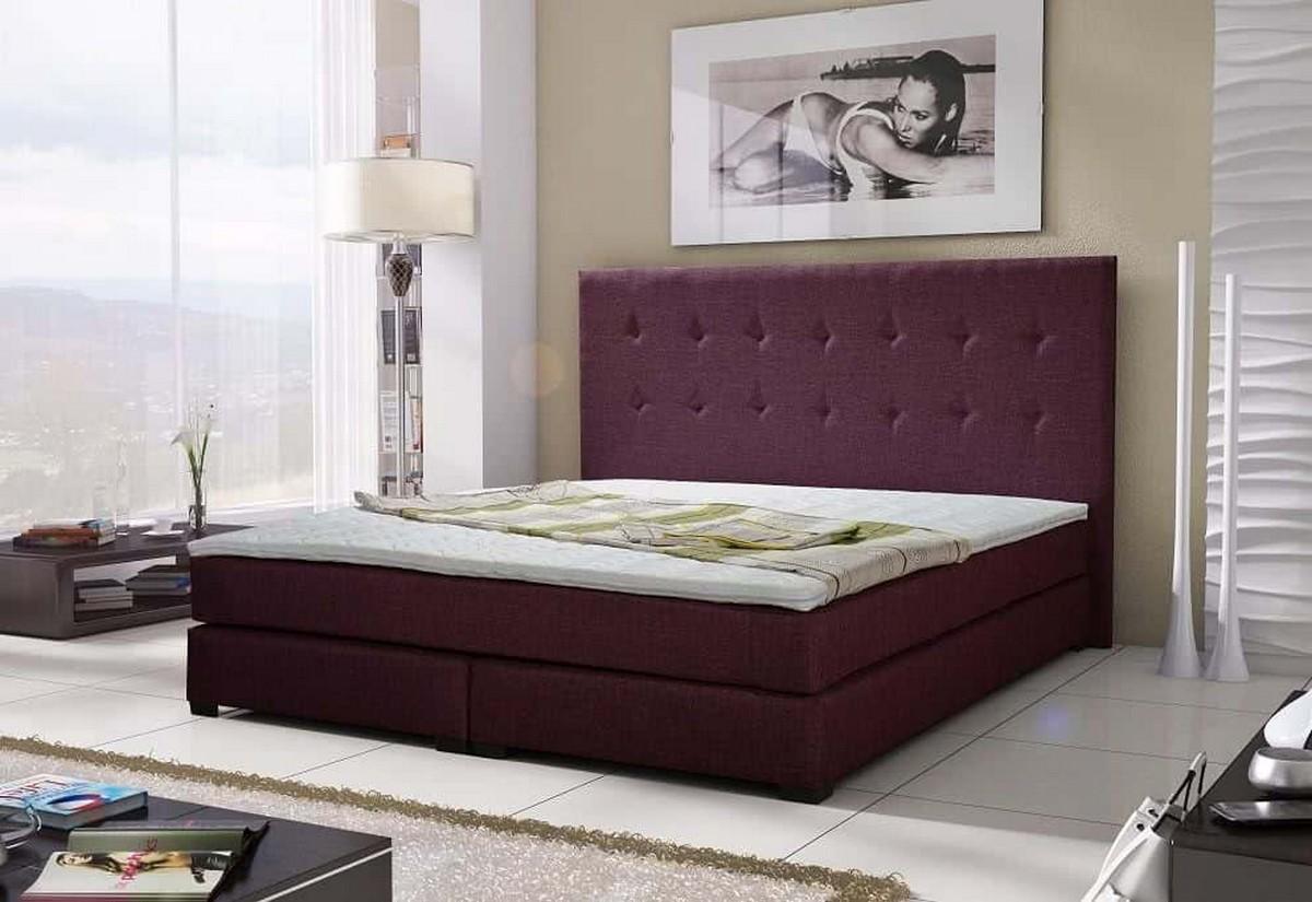 Luxusní postel CRISTAL + matrace + rošt, 180x200 cm, sawana 70