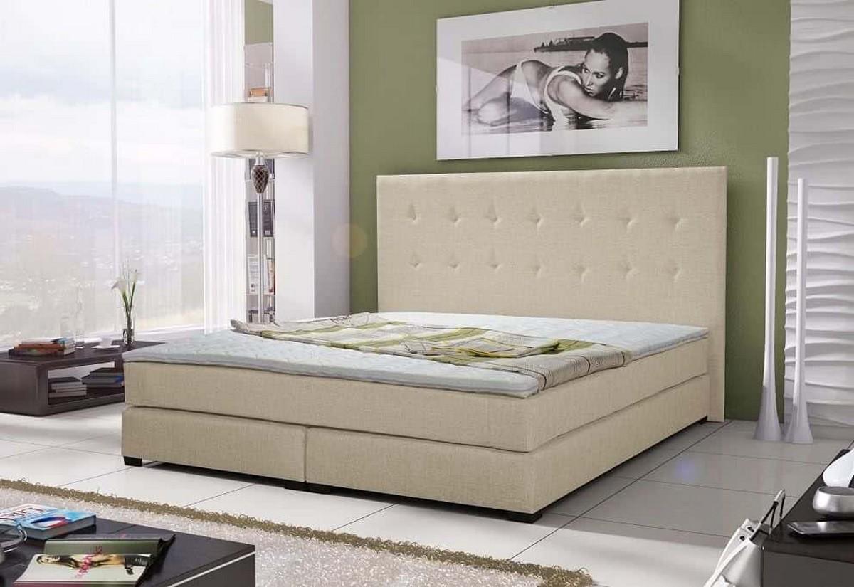 Čalouněná postel CRISTAL + matrace + rošt, 140x200 cm, sawana 01