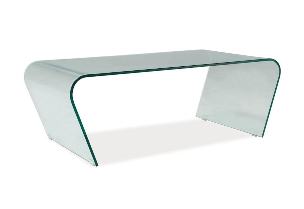 Konferenční stolek TESLA, 42x60x120, sklo