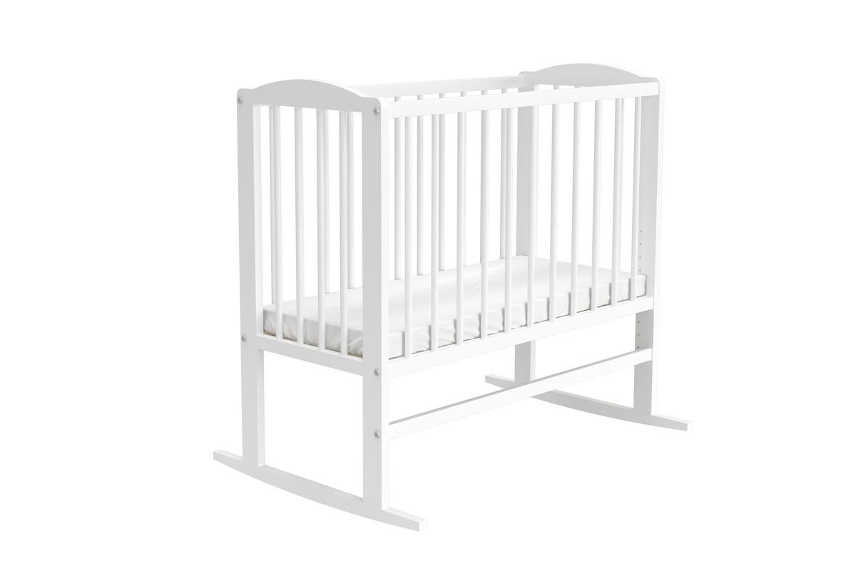 Dětská postýlka KASIA + rošt + matrace, 40x90, bílá
