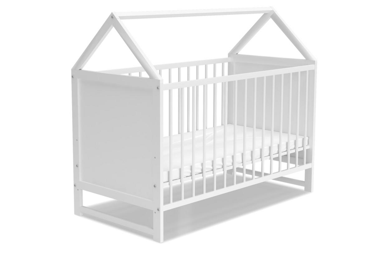 Dětská postýlka ANIA + matrace, 60x120, bílá