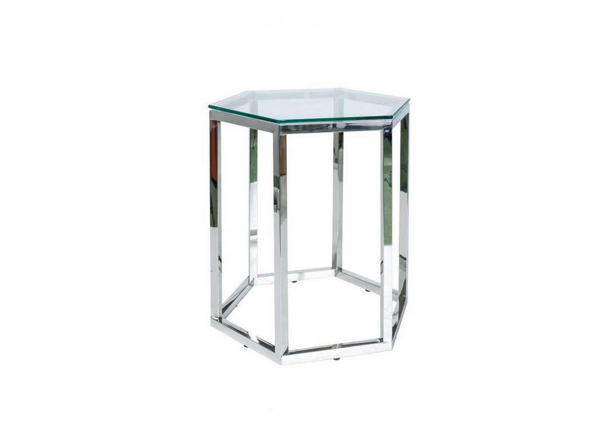 Konferenční stolek CONTI, 42x51x48, sklo/chrom