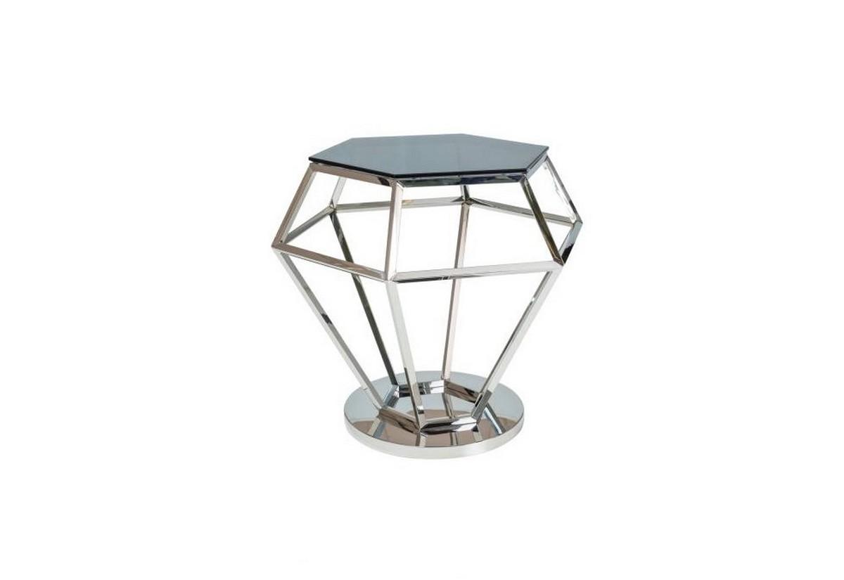 Konferenční stolek ROLEX, 48x55x42, sklo/chrom