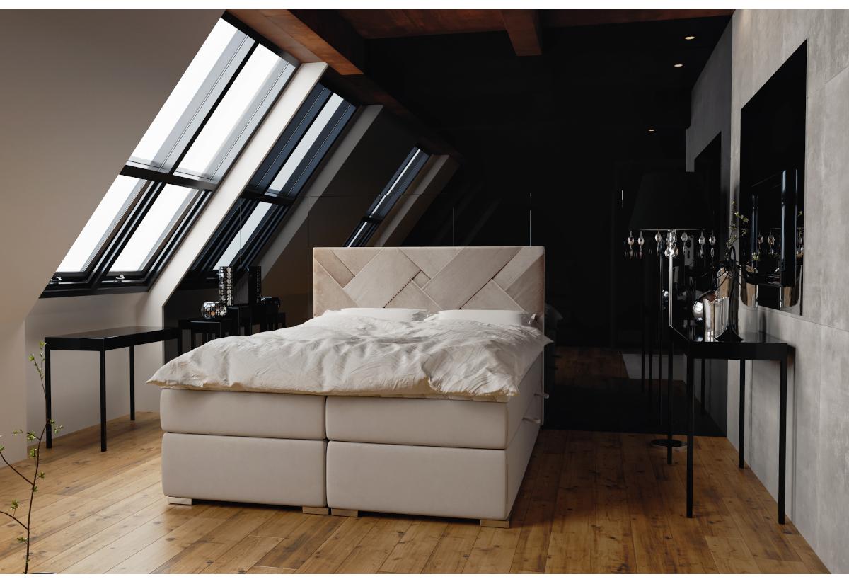 Čalouněná postel BELIZE, 140x200, magic velvet 2201