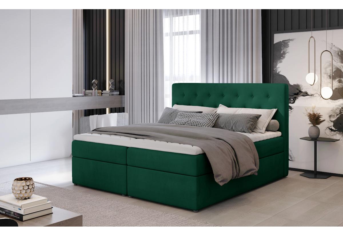 Čalouněná postel boxspring LOREE, 140x200, monolith 37