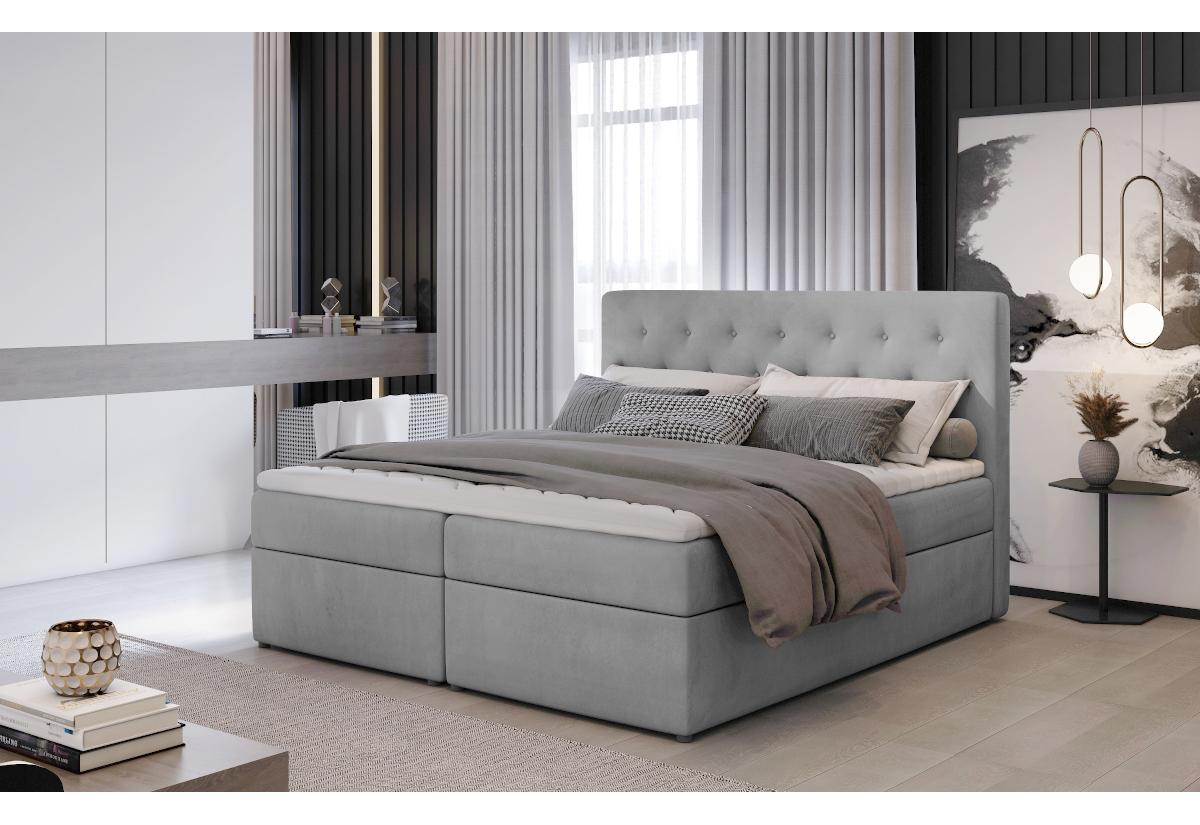 Čalouněná postel boxspring LOREE, 160x200, monolith 84