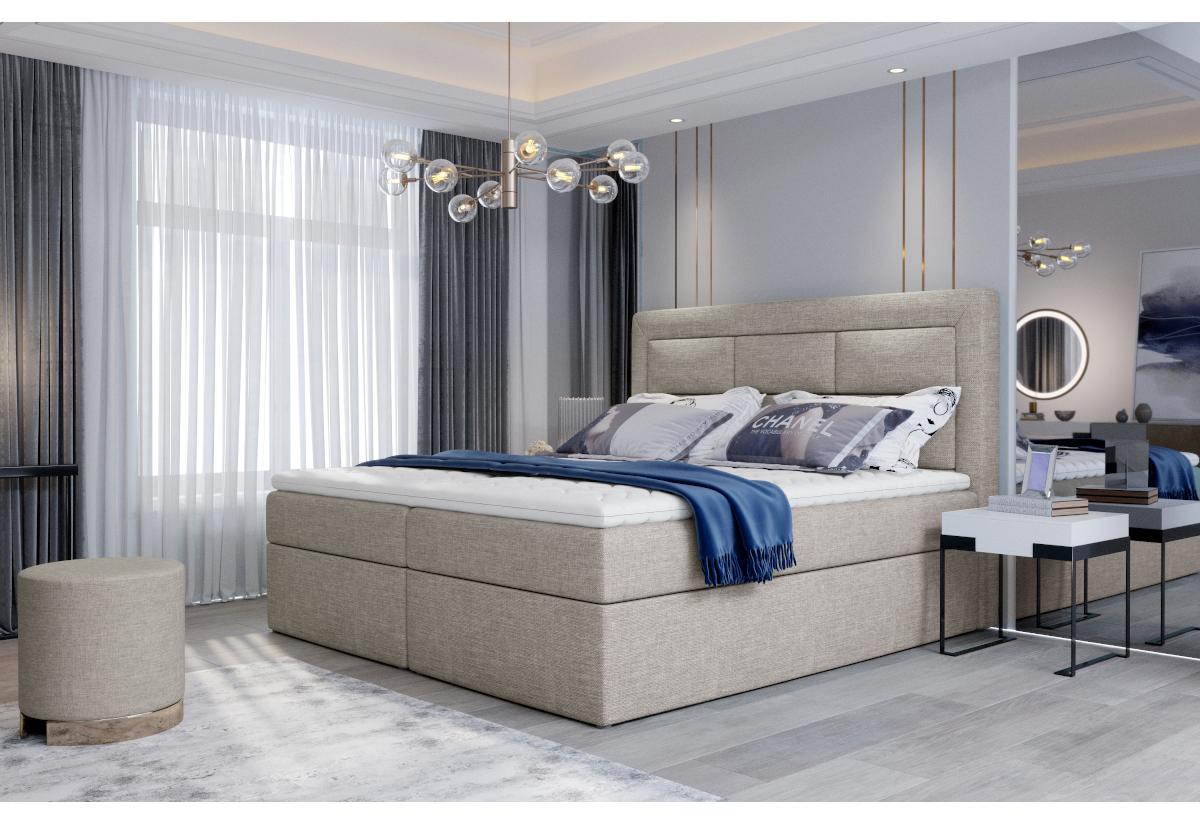 Čalouněná postel boxspring VIVRE, 160x200, cover 02