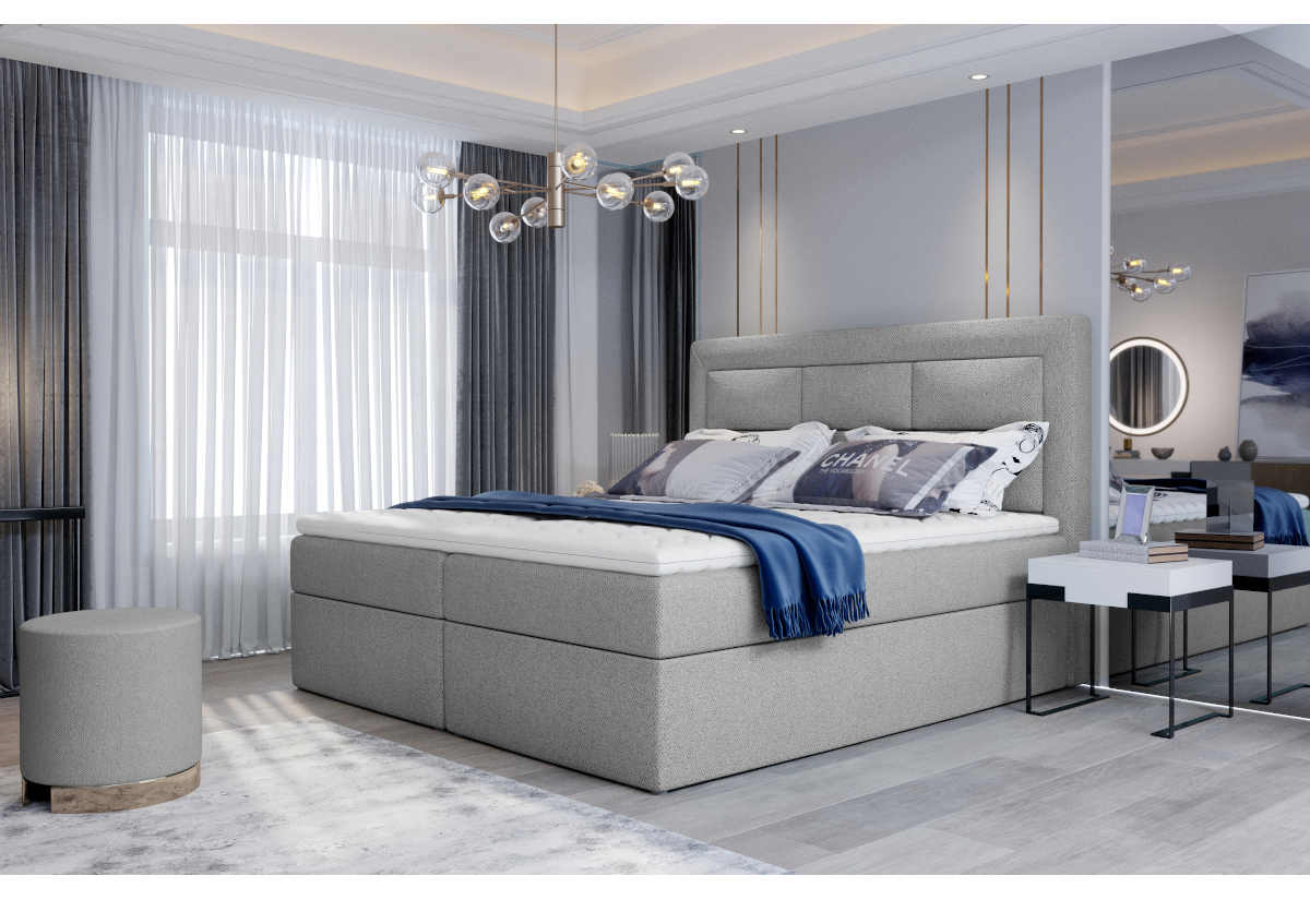 Čalouněná postel boxspring VIVRE, 160x200, grande 81