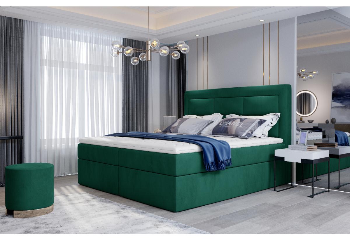 Čalouněná postel boxspring VIVRE, 160x200, monolith 37