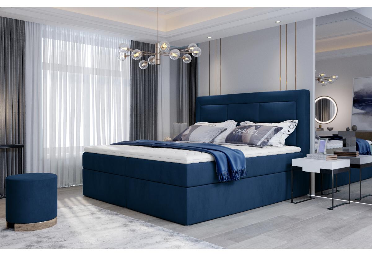 Čalouněná postel boxspring VIVRE, 160x200, monolith 77