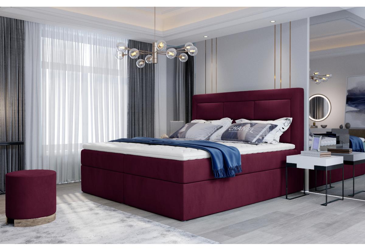 Čalouněná postel boxspring VIVRE, 160x200, mat velvet 68